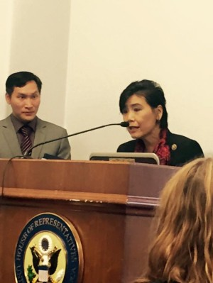 Congresswoman Judy Chu with Eddy Zheng