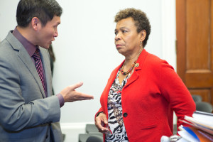 Congresswoman Barbara Lee with Eddy