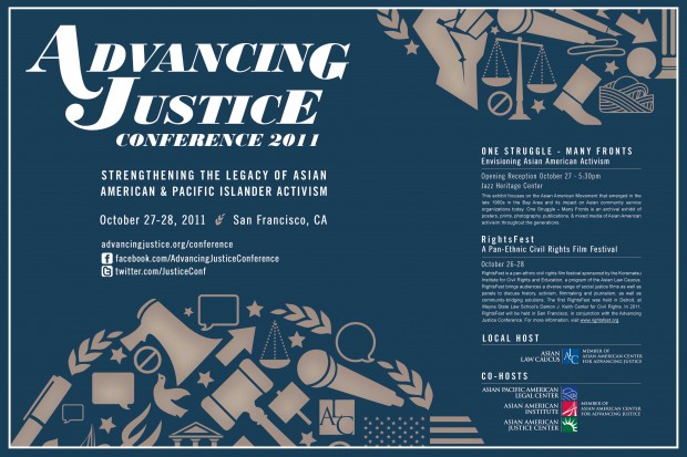 Advancing Justice Conference flyer